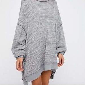Free People Long Sleeve Oversized Knit Pullover M